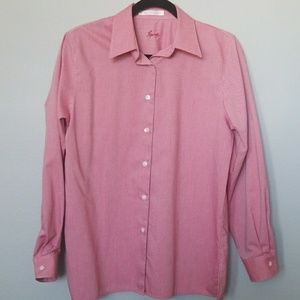 Foxcroft striped button down long sleeve size 8